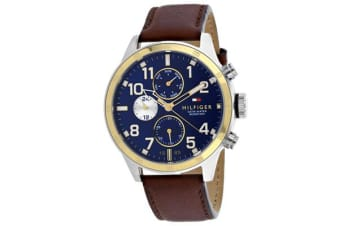 Tommy Hilfiger Men's Cool Sport Watch(Blue Dial, Leather Strap)