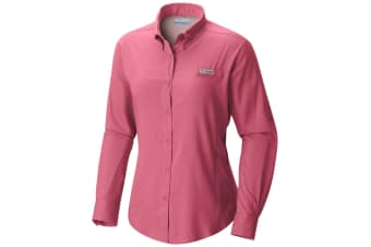 Columbia Womens Tamiami II Long Sleeve Shirt - Lollipop