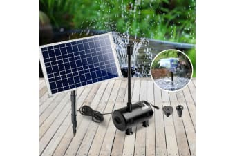 100W Solar Powered Water Pond Fountain Pump Outdoor Submersible