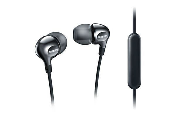 Philips In-EarGel Headphones with Mic - Black (SHE3705BK)
