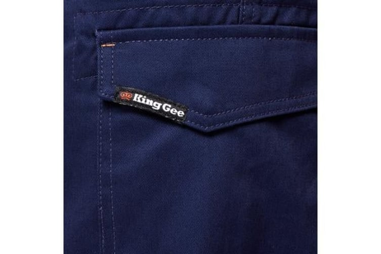 King Gee Reflective Workcool Pants (Navy, Size 107R)