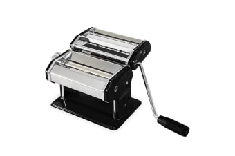 Avanti Pasta Making Machine Stainless Steel Spaghetti Fettuccine Chef Black