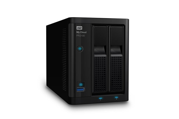 WD My Cloud PR2100 Pro Series Media Server NAS - 16TB (WDBBCL0160JBK-SESN)