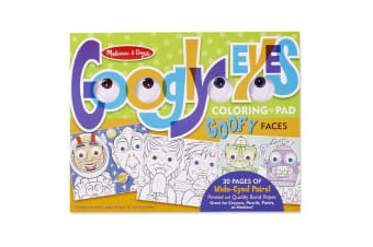 Melissa and Doug  Googly Eyes Colouring Pad - Goofy Faces