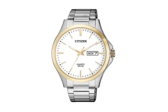 Citizen Men's Analog Quartz Watch with Date/Date - Stainless Steel/Rose Gold (BF2006-86A)