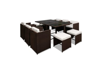 Capetown Dining 10 Seater Set (Brown/White)