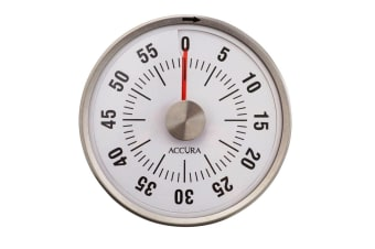Accura Mechanical Magnetic Kitchen Timer - White