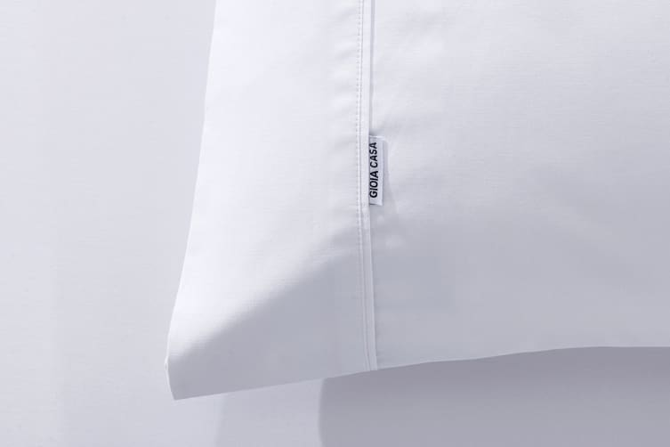 Gioia Casa 400TC Bamboo Cotton Fitted Sheet Combo (White, Queen)