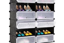 12 Cube Stackable Shoe Storage