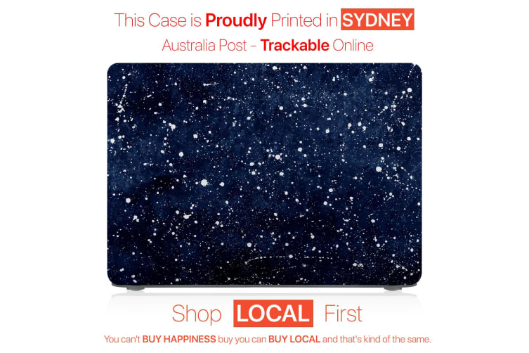 """Hard Case Cover for Apple Macbook Pro 13"""" Inch A1708-Matte Clear-Galaxy Star"""