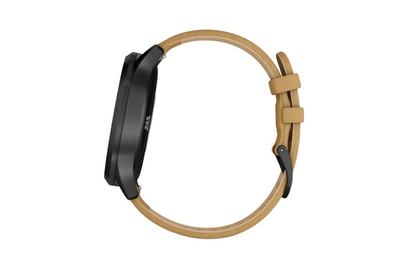 Garmin Vivomove HR Premium (Onyx with Tan Suede Band)