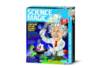 Science Magic Kit 20 Tricks Kids Educational Toy Children Experiments Magician