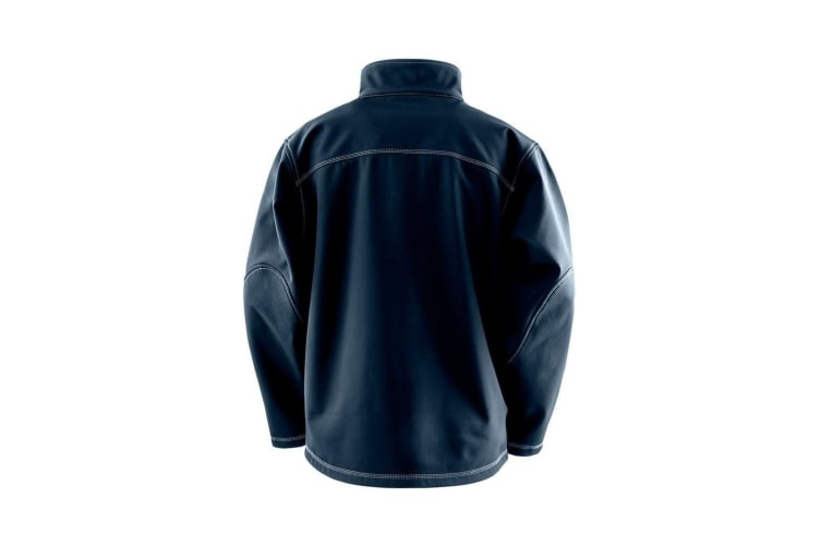 Result Work-Guard Mens Treble Stitch Soft Shell Jacket (Navy) (XXL)