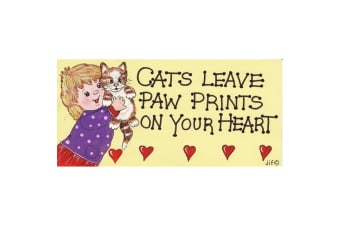 Something Different Cats Leave Paw Prints Decorative Sign (Multicolour) (One Size)