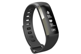 "Bluetooth V4.0 Fitness Band Watch Heart Rate Blood Oxygen Ip67 0.96"" Oled - Grey"
