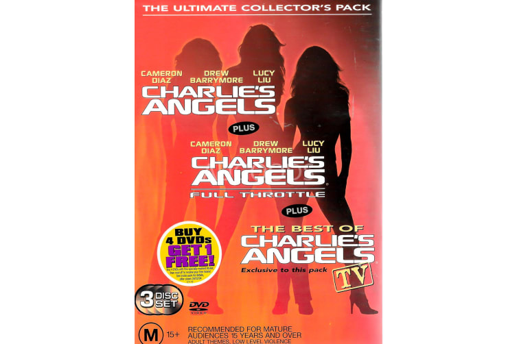 Charlie's Angels 3 Disc Set - Region 4 Rare- Aus Stock DVD PREOWNED: DISC LIKE NEW
