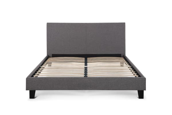 Shangri-La Bed Frame - Ravello Collection (Dark Grey, Double)