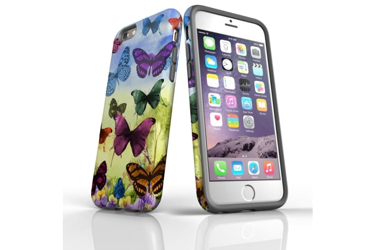For iPhone 6 & 6S Protective Case Unique Phone Cover  Painted Butterflies