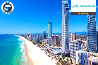 GOLD COAST: 3, 5 or 7 Nights at Ultra Broadbeach for Two or Four