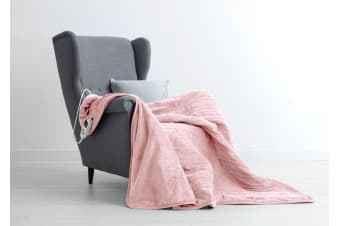 Dreamaker Electric Heated Throw Blanket - Blush