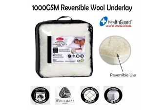 1000gsm Reversible Wool Underlay King