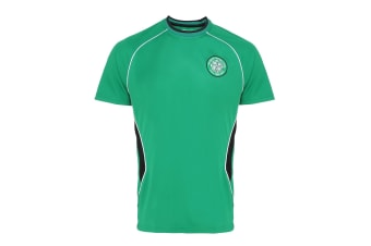 Official Football Merchandise Celtic FC Adults Short Sleeve T-Shirt (Green)