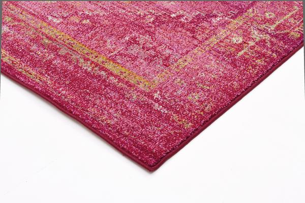 Overdyed Classic Style Rug Red 290x200cm