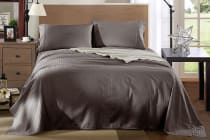 Royal Comfort Kensington 1200TC 100% Egyptian Cotton Stripe Bed Sheet Set (Charcoal)