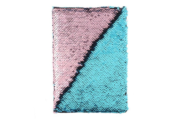 Something Different Reversible Sequin Notebook (Blue/Pink) (One Size)