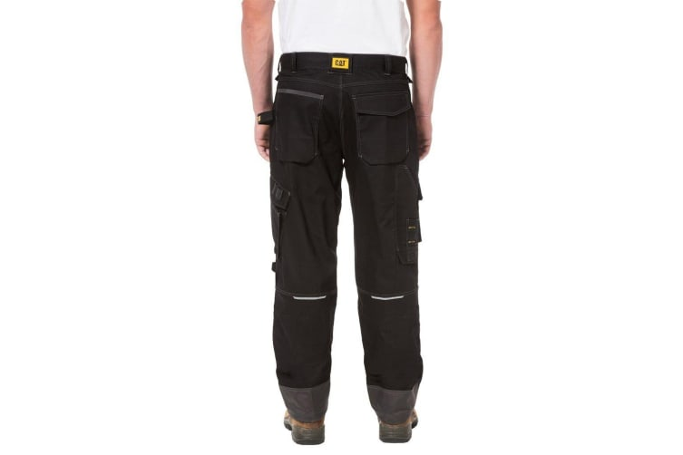 Caterpillar Mens H2O Defender Water Resistant Workwear Trousers (Black Graphite) (32L)