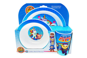 Go Jetters Childrens/Kids Dinner Set (Set Of 3) (Multicoloured) (One Size)