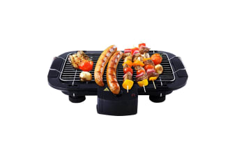 SOGA 49cm Electric BBQ Grill Teppanyaki Plate Non-stick Surface Hot Plate Kitchen 3-5 Person