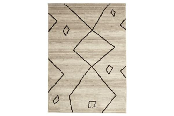 Morrocan Large Diamond Design Rug Cream 230x160cm