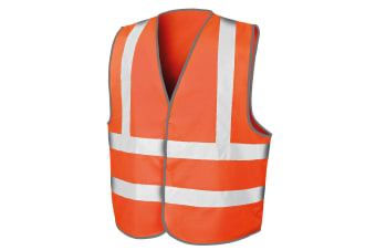 Result Mens Core Safety Hi Viz Vest (Fluorescent Orange) (L/XL)