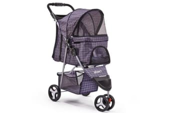 i.Pet 3 Wheel Pet Stroller (Blue)