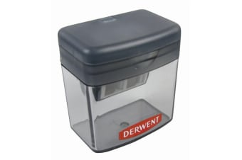 Derwent Two/Twin Hole Stationery School/Office Supplies Pencil Sharpener Grey
