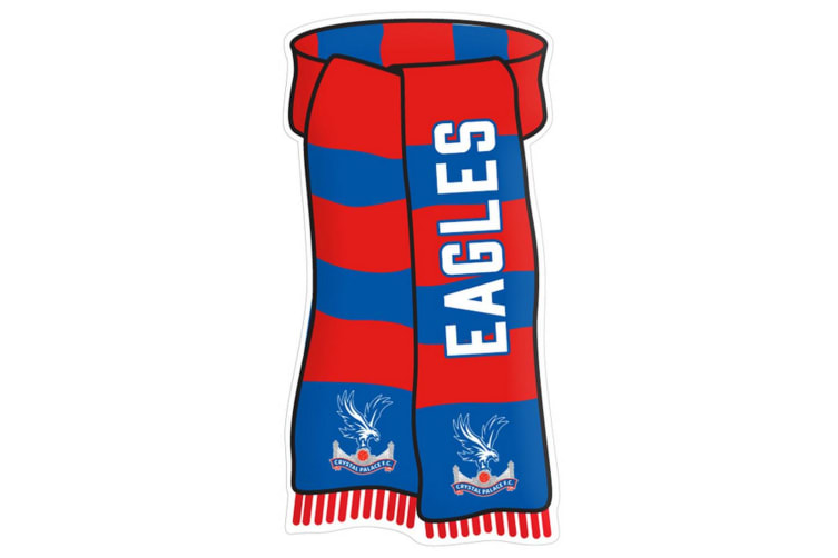 Crystal Palace FC Official Show Your Colours Sign (Red/Blue) (One Size)