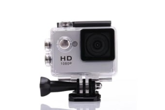 1080P Full Hd Sports Camera 30M Waterproof Loop Rec A9 Action Camera - Silver