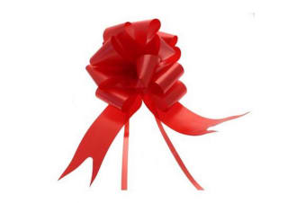 Apac 50mm Block Colour Decorative Pull Bow Ribbon (Red)