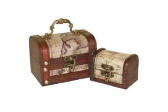 Something Different Map Chests (Set Of 2) (Brown)