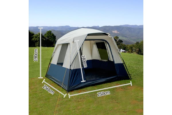 4 Person Family Camping Tent (Navy/Grey)