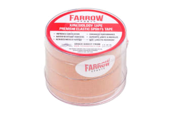 Farrow Sports 2 Rolls Skin Kinesiology Strapping Tape 25mm x 5m Muscle Support