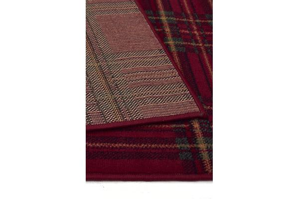 Modern Boxed Striped Red Rug 230x160cm