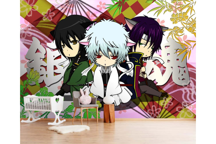 3D Meditate Back To Back 45 Anime Wall Murals Woven paper (need glue), XL 208cm x 146cm (WxH)(82''x58'')