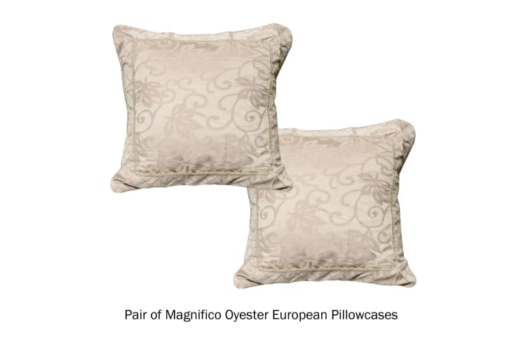 Pair of European Pillowcases Magnifico Oyester by Phase 2
