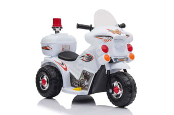 Kids Ride-On Motorbike Motorcycle Electric Bike Toy Car Trike Battery Red/White - White
