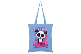 Handa Panda Positive Thoughts Tote Bag (Sky Blue)