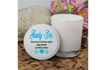 Aunty Scented Soy Candle 45hours Personalised Lid