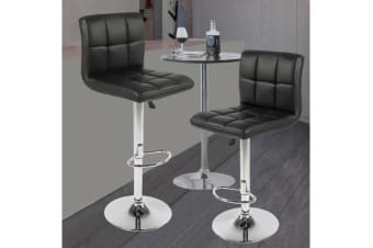 4x PU Leather Swivel Bar stool Gas Lift Adjustable BLACK (ED0205)