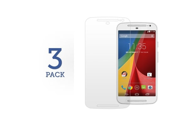 3 Pack Screen Protector for Motorola Moto G 2nd and 3rd Generation